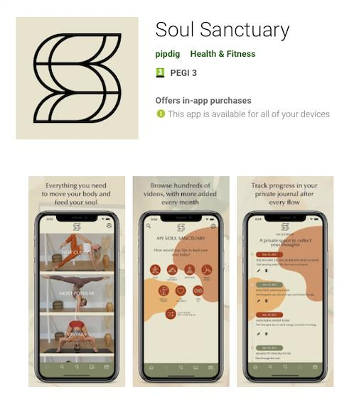 Soul Sanctuary in the Google Play store