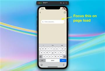 Flutter: Auto focus Cupertino Search Text Field on page load